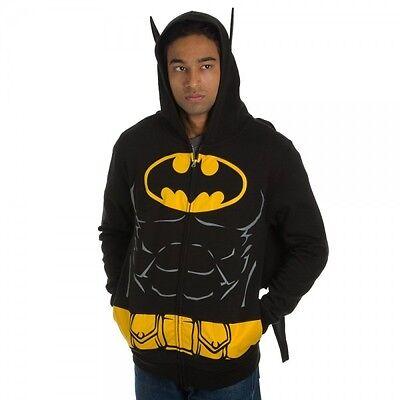 Batman Suit Up Costume With Cape DC Comics Licensed Zip Up Hoodie S-XXL