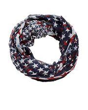 D&Y Americana Infinity Scarf Distressed American Star Holiday Patriotic FLAG