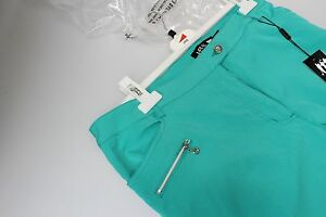 JRB-Longer-Length-City-Shorts-Stretch-PLAIN-Bright-Emerald-Green-12-14-16-New