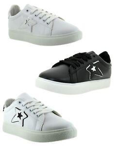 Sneakers-bianche-Scarpe-Ginnastica-Donna-Sneakers-estive-Eco-Pelle-Fitness-sport