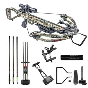 New 2019 Killer Instinct Hero 380 Illuminated 4x32 Scope Crossbow Package 1100