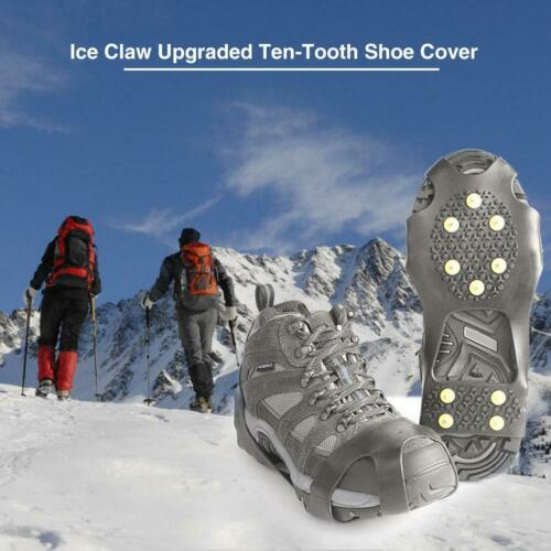 10 Studs Ice Snow Grips Anti Slip On Over shoe Boot studs Crampons Cleats Spikes