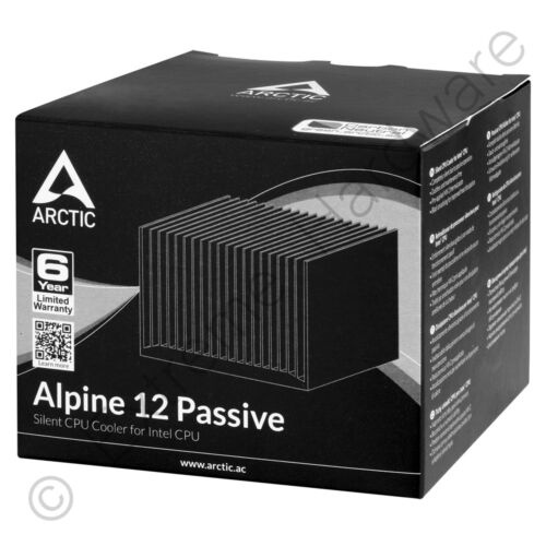 Arctic Alpine 12 Passive Silent Intel CPU Cooler 47W LGA 1150//1151//1155//1156