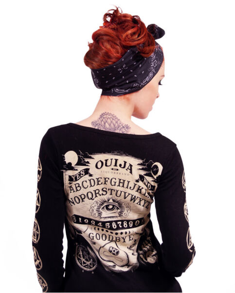 Liquor Brand OUIJA Damen Cardigans.Rockabilly,Tattoo,Pin up,Biker,Custom Style