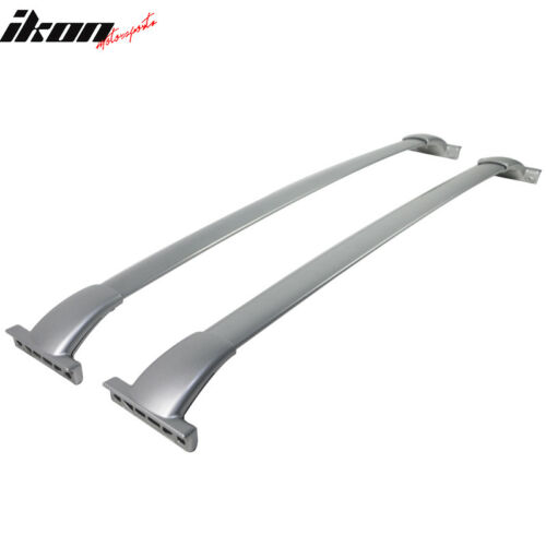 Fits 13-17 Nissan Pathfinder OE Factory Style Roof Rack Cross Bar Pair Silver