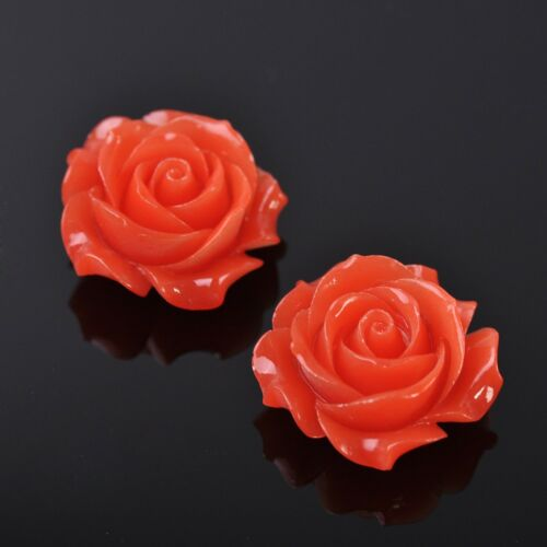 35mm Resin Carved Big Rose Flower Jewelry DIY Charms Loose Spacer Beads Findings