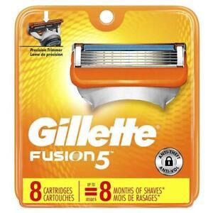 Gillette Fusion5 Men's Razor Blades - Cartridge Refills 8 Count