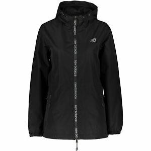 NEW-BALANCE-Women-039-s-Black-Hooded-Windbreaker-Jacket-size-SMALL