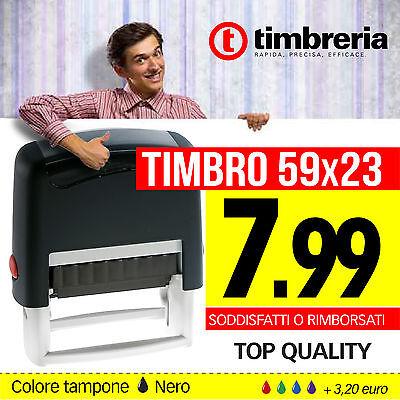 TIMBRO AUTOINCHIOSTRANTE 59x23 TIMBRO PERSONALIZZATO - TIMBRO AUTOMATICO