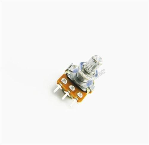 10Pcs 250K Ohm B250K Knurled Shaft Linear L Potentiometer Rotary Taper New Ic tf
