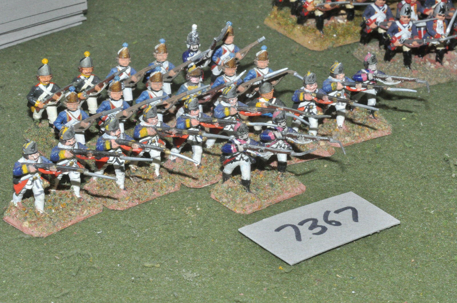 25mm 7YW   prussian - seven years war fusiliers 24 figures metal - inf (7367)
