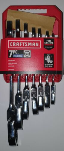 Craftsman CMMT87009 7 Piece 12 Pt Metric Flex Reversible Wrench Set