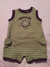 Gymboree Turtle-y Cute Boys Romper Outfit Size 3-6 Months