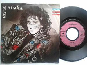 """Alisha / Baby Talk 7"""" Vinyl Single 1986 mit Schutzhülle"""