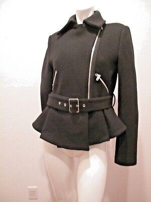 Belted LEbay Black Blend Size Wool Woman Jacket Zara Basic 5LR3j4A