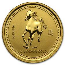 2002 1/10 oz Gold Lunar Year of the Horse BU (Series I) - SKU #8979