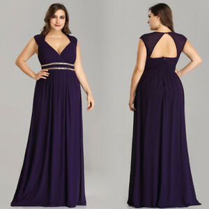 Ever-Pretty-Plus-Size-Bridesmaid-Dresses-Long-Dark-Purple-Evening-Gown-08697