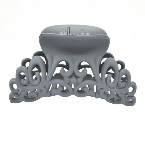 Scrub Black Plastic Hair Claw Clips Hollow Out Carving Crab For Hair Clamps#