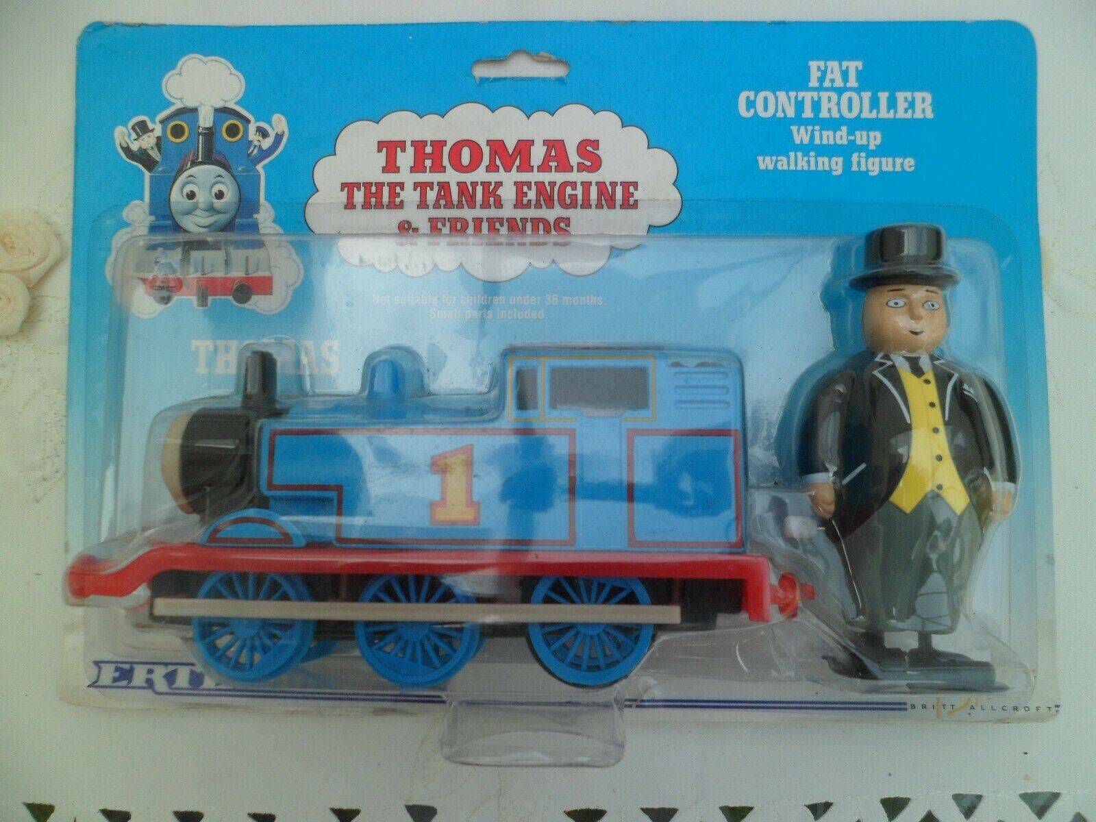 Vintage ERTL Thomas The Tank Engine & Fat Controller Wind-Up Walking Figure 1993