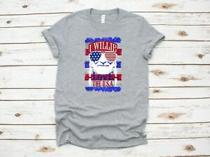 Patriotic-T-Shirt-Sz-L-I-Willie-Love-The-USA-Graphic-Willie-Nelson-Inspired