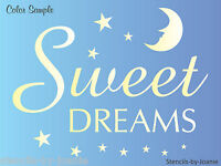 Stencil Sweet Dreams Bedtime Stars Moon Baby Nursery Family Home Art Decor Signs