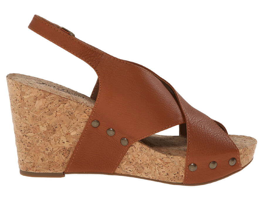 New Lucky Brand MINARI  Leather femmes Wedge Sandals Sz. 8