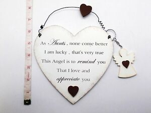 Image Is Loading Auntie Heart Plaque Amp Key Ring Birthday Gift