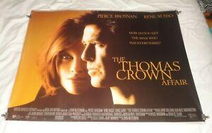 The Thomas Crown Affair Original UK Quad Movie Cinema Poster 1999 Pierce Brosnan