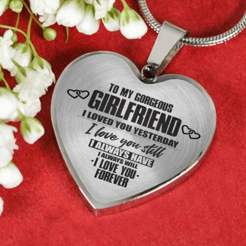 To My Girlfriend I love You Luxury Heart Shape Necklace Gift Birthday