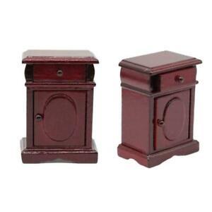 1-12dollhouse-doll-house-mini-wooden-bedside-table-model-home-access-simula-J6O8