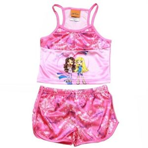 Lil-039-Bratz-Girl-039-s-Pink-2-Piece-Pajama-Tank-Top-amp-Short-Sleepwear-Set-Sz-4-5