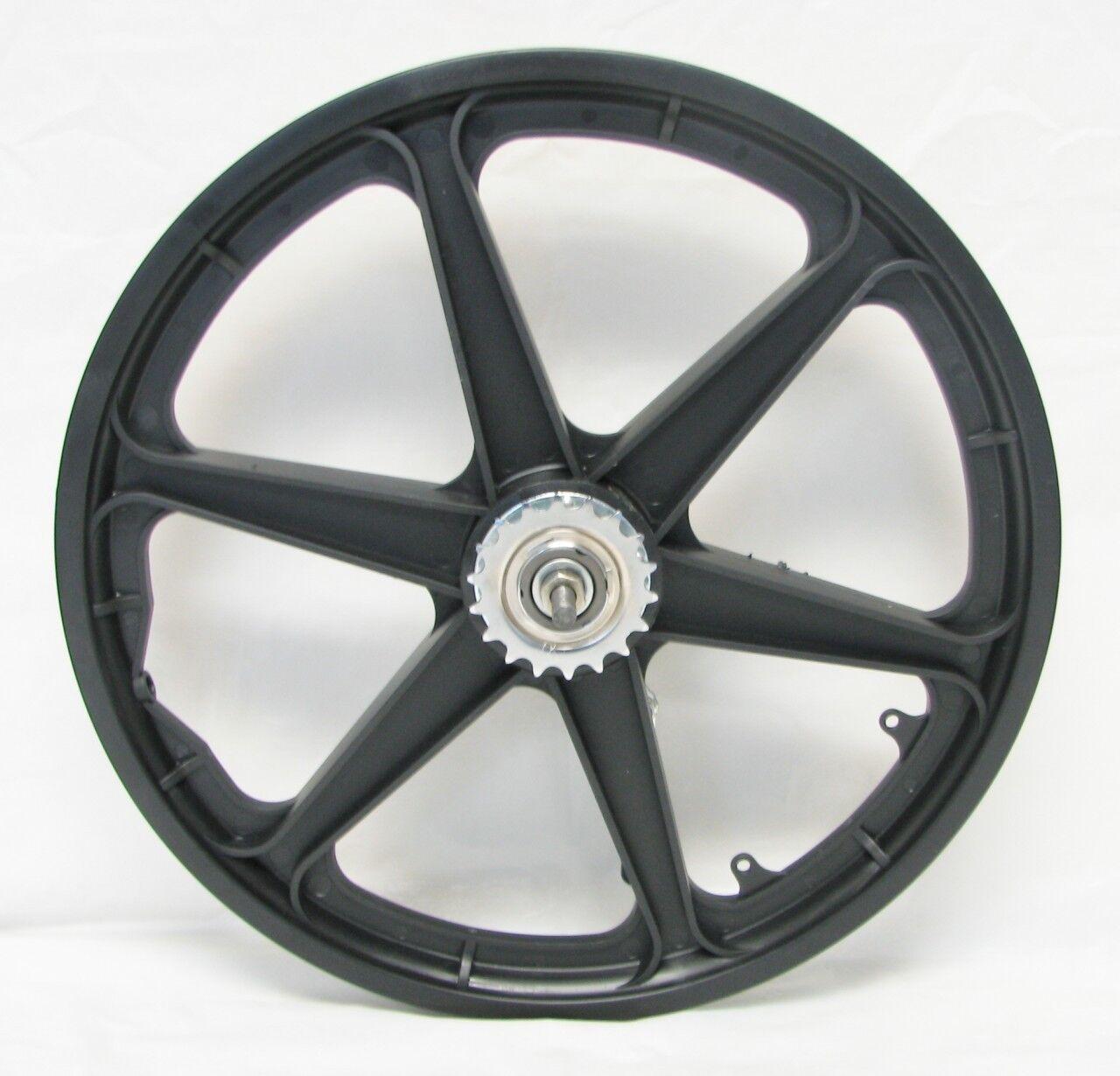 20  Rear Wheel MAG PLASTIC 6-SPOKE Coaster Brake Cruiser Lowrider BMX Bicycle
