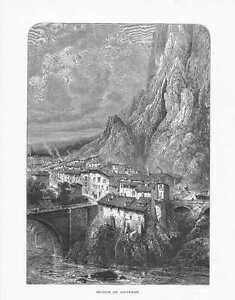 Ansicht-von-Sisteron-HOLZSTICH-um-1880-Departement-Hautes-Alpes