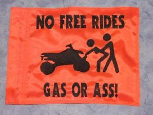 Details about Custom GAS OR A*S ATV Safety Replacement Whip Flag  Great 4  Jeep UTV Trike Bike