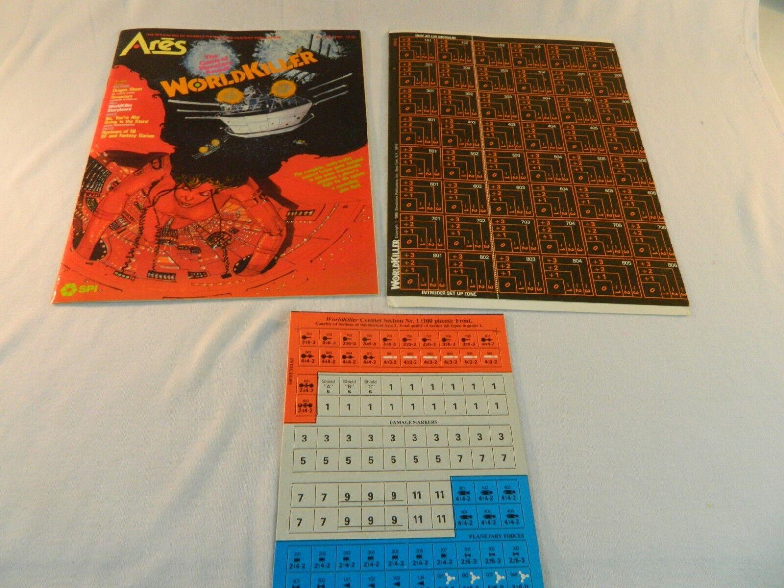 1980 Ares WORLDKILLER complete, unpunched  SPI  NEW