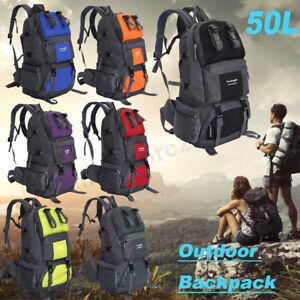 50L-Camping-Hiking-Climbing-Rucksack-Travel-Backpack-Military-Outdoor-Bag