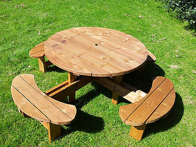 Commercial Grade Supersized Excalibur round picnic table ...