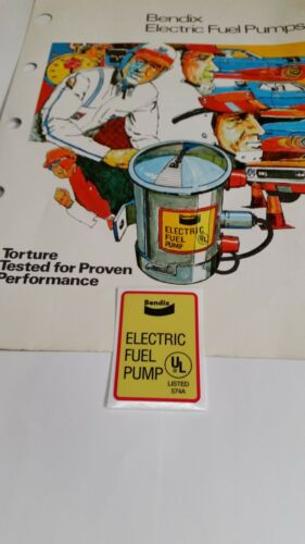 Bendix High Quality Fuel pump sticker