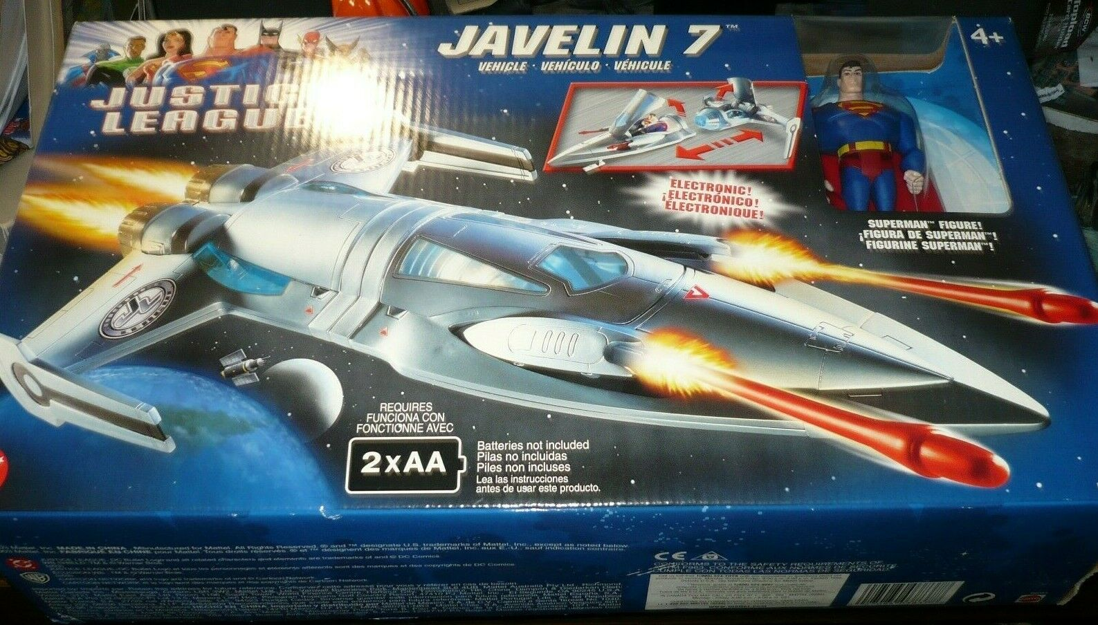 Justice League Electronic JAVELIN 7 w Superman WirkungFig New Factory Meerled 200