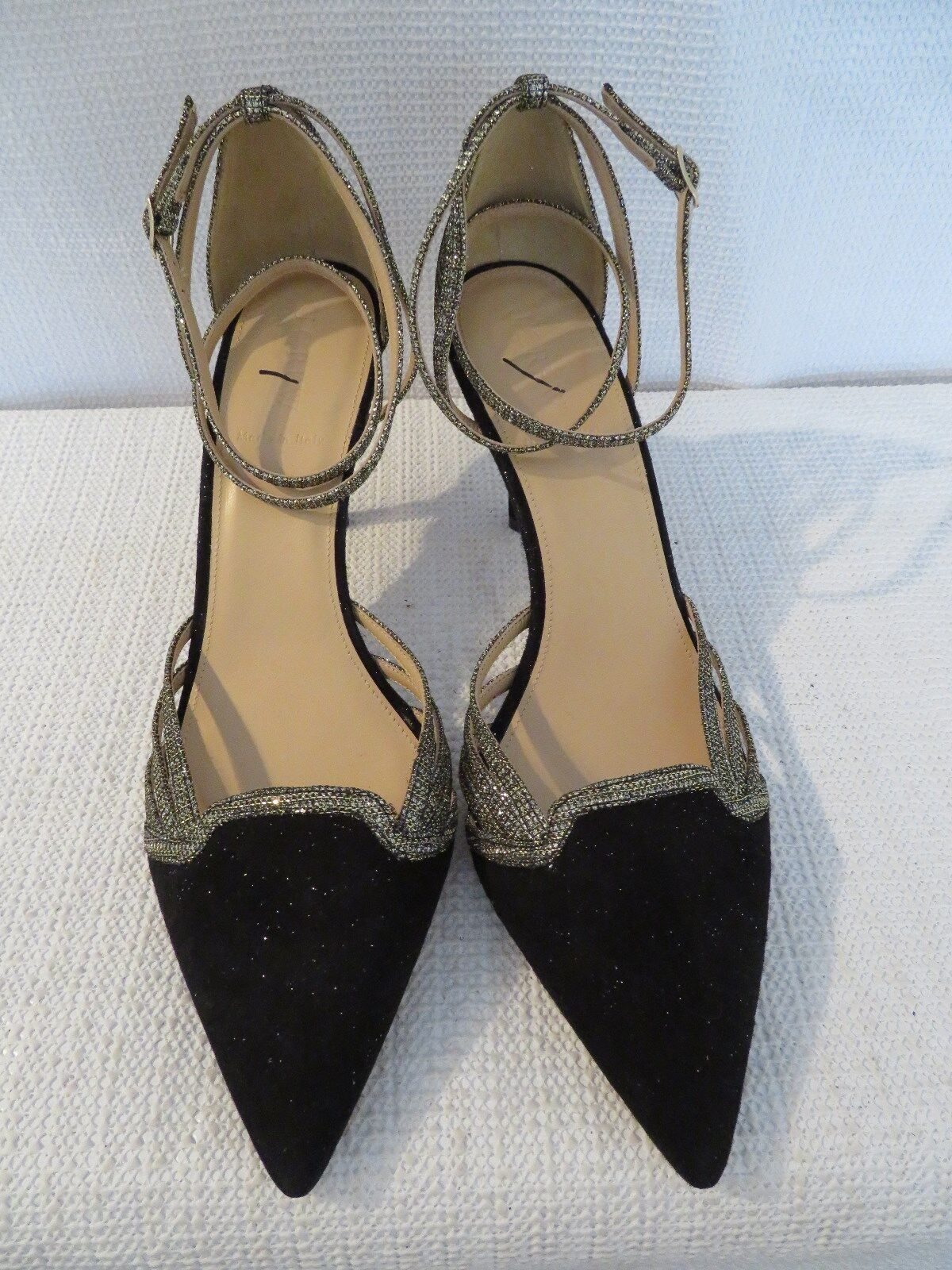 NEW J.CREW COLLETTE ANKLE-WRAP IN SUEDE PUMPS IN BLACK F8481, SZ 9,  278