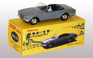 DAN-TOYS-Peugeot-504-Cabriolet-Gris-Metal-avec-Conducteur-DAN-252