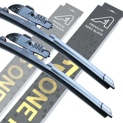 "Front Premium Aero Wiper Blades-Paire Pare-brise Fenêtre 24/"" 19/"" V1"