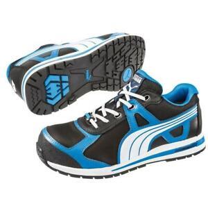 Puma-643025-Aerial-Low-Mens-Blue-Black-Comp-Toe-EH-Sneakers