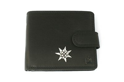 Gut Ausgebildete Edelweiss S Mens Leather Wallet Black Or Brown Flower Gift 115