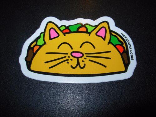 "NATE DUVAL 3/"" Taco Cat STICKER Art poster print skateboard skate"
