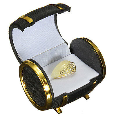 Novelty Europe Beer Barrel Velvet Ring Earring Jewelry Display Box Case Gifts