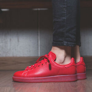 innovative design fb469 2c6e4 Details about MENS ADIDAS STAN SMITH PHARRELL SCARLET RED ADICOLOR ATHLETIC  SHOES S80248