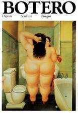 Bath Art Poster Print by Fernando Botero, 13.5x19.5