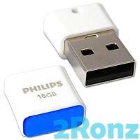 Philips Pico 16GB 16G USB Flash Pen Drive Disk Nano Mini Notekbook Tablet Blue