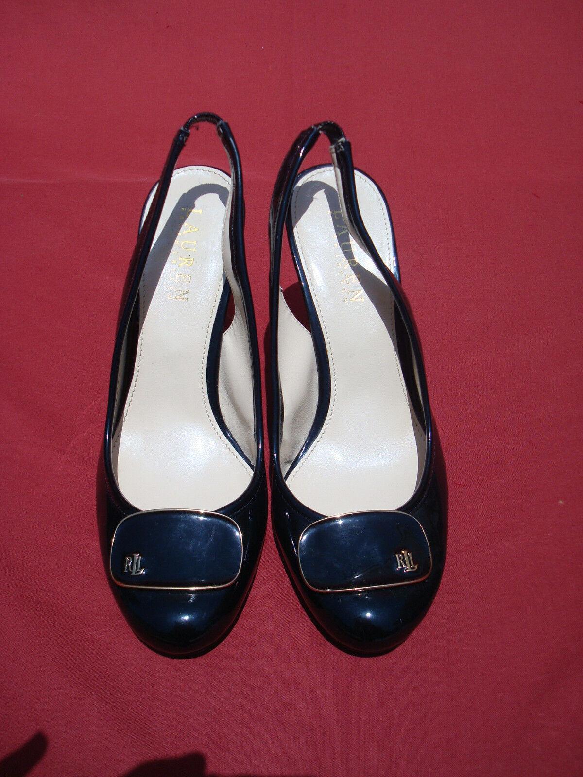 i nuovi stili più caldi Ralph Lauren nero Patent Leather Donna's Sandals scarpe Sz 6 6 6 M  acquista marca